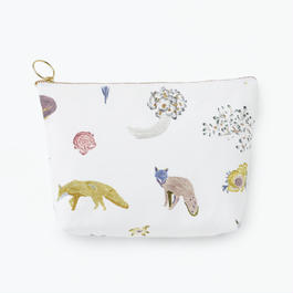 Pouch  Fox Square            ポーチ キツネ 角型