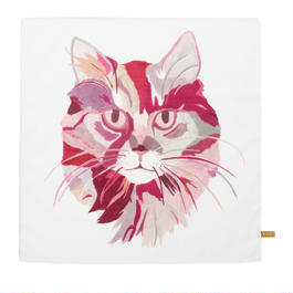 Handkerchief    Cat 'The Pink'       ハンカチ   猫「ザ ピンク」