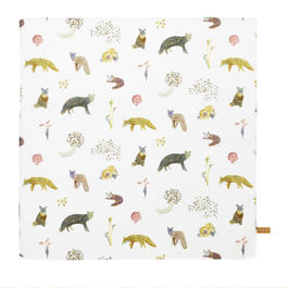 Handkerchief    Fox Pattern        ハンカチ キツネ柄