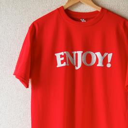 ENJOY! TEE  (Red×Silver)