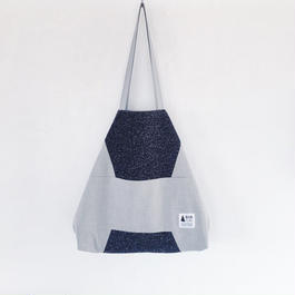 flag bag / wool(ネイビー)