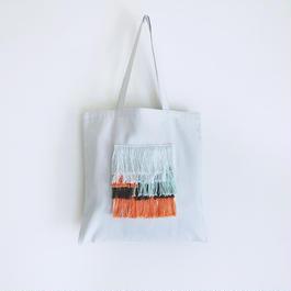 hairy bag / square(ペールグレー)