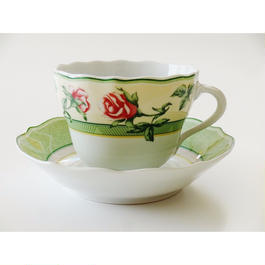 フッチェンロイター  パークレーン  コーヒーカップ&ソーサー(井戸有り)