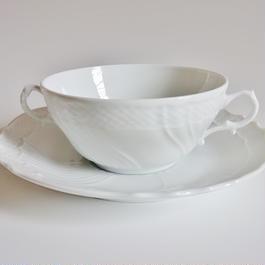 リチャードジノリ ベッキオホワイト  スープカップ&ソーサー