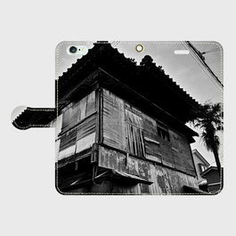 新潟県・十四番丁遊廓 iPhoneケース(手帳型)