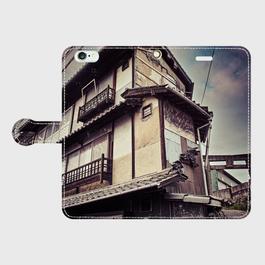 岡山県・玉島町遊廓 iPhoneケース(手帳型)