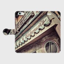 愛知県・八幡園遊廓 iPhoneケース(手帳型)