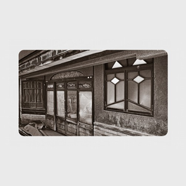 石川県・石坂遊廓《ネコ窓》 モバイルバッテリー