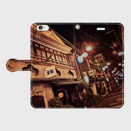 大阪府・飛田遊廓 iPhoneケース(手帳型)