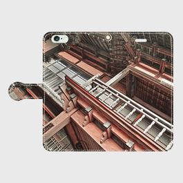 青森県・野辺地遊廓 iPhoneケース(手帳型)