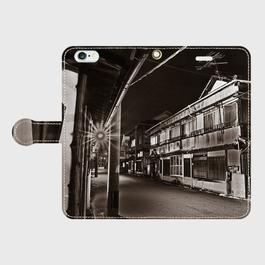 大分県・菡萏遊廓 iPhoneケース(手帳型)