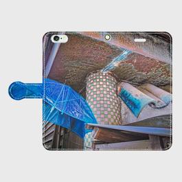東京都・鳩の街 iPhoneケース(手帳型)