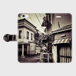 京都府・五条楽園 iPhoneケース(手帳型)