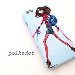 iPhone6/6S/6Plus/ ケース * 赤いタイツの女の子