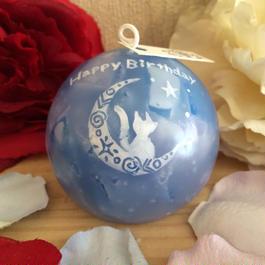 お誕生日プレゼントキャンドル(ローズの香り)ラッピング付き!