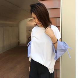 リボンスリーブTシャツ