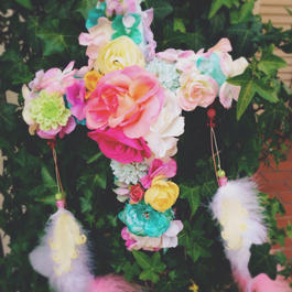 Pink Flamingo Rose Cross