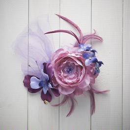 Le Papillon de fleur ヘアーアクセサリー(LL/PUR)BOX付き