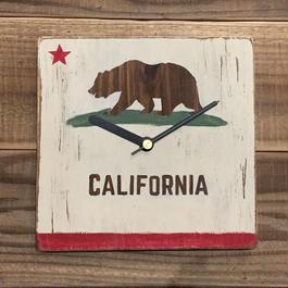 wood clock~California~