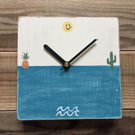 wood clock〜happy beach〜