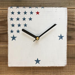 wood clock〜star〜