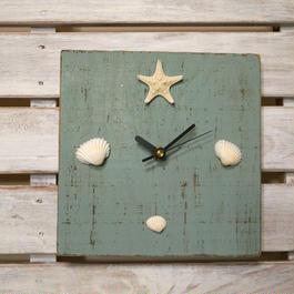 wood clock~shell~