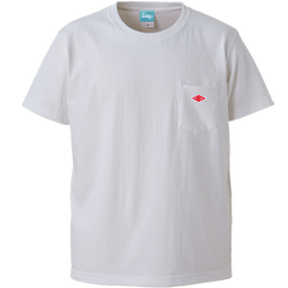 Wappen Pocket T-shirt (White×Red Wappen) <<WEB STORE限定>>