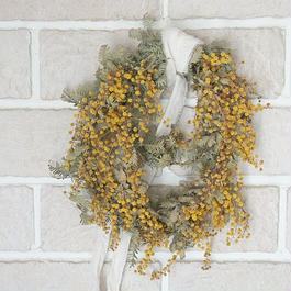 Dual Mimosa wreath