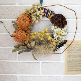Wreath of lotus and pin cushion