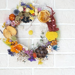 Wreath of colorful child