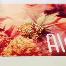 Manoa Love Design/ 14K gf Aloha~リング