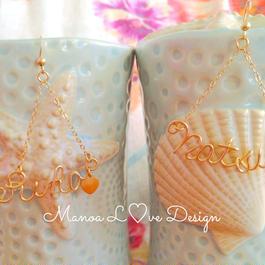 Manoa Love Design/サイドカスタムネームピアス