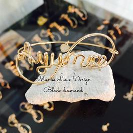 ネームブレス+ブラックダイヤモンド