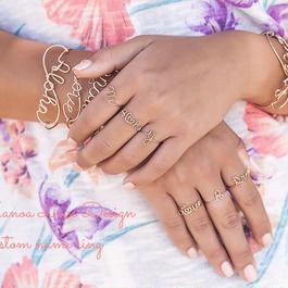 Manoa Love Design /14K gf カスタムネームリング