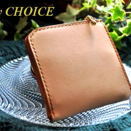 EUヌメ革 L型財布(ナチュラル)