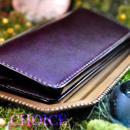 革の宝石ルガトー・長財布(紫)
