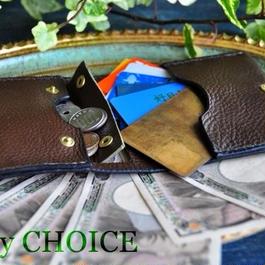 イタリアンオイルレザーアリゾナ・コンパクト2つ折り財布(オリーブ)