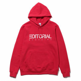 The Editorial Magazine パーカー【COMPANY LOGO】RED