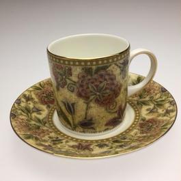 ウェッジウッド フローラル タペストリー コーヒーカップ&ソーサー キャン