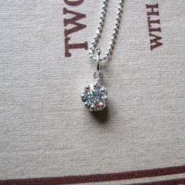 Milk Crown Necklace -Mystic cubic zirconia-5mm