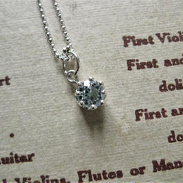 New!Milk Crown Necklace -スイスブルートパーズ -