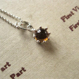 New!Milk Crown Necklace -Citrine Topaz-5mm