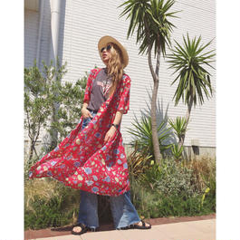 FLOWER CROSS GOWN(RED)