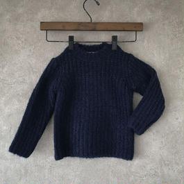 KIDS  basic  knit  ♣︎  ネイビー 男女兼用