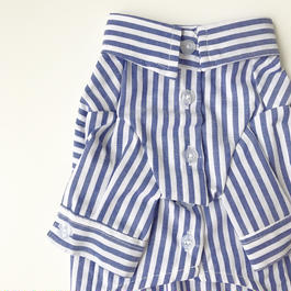 PET stripe shirt ♣︎ ブルー