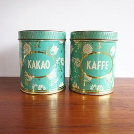 デンマーク ビンテージ缶 KAFFE&KAKAOセット