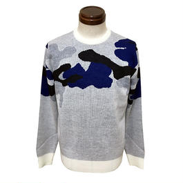 SIKI【シキ】SK-1608 CAMO KNIT OFF WHITE