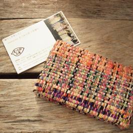 裂き織りカードケース