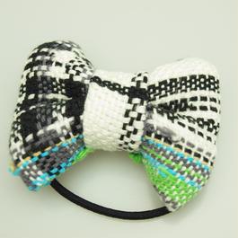 モノトーンの手織りリボンゴム