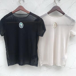 Cross mesh T-shirt